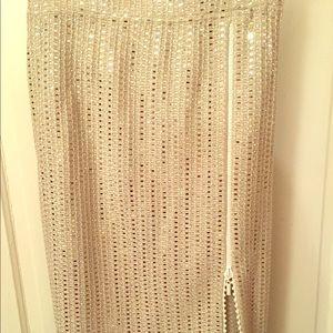 Stunning beaded zip-up skirt